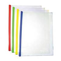 Папка с планкой-зажимом А4 прозрачная, до 35 листов, Е31204