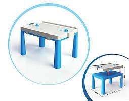 Столик дитячий з аерохоккеєм 04580   81,5 * 56 * 48 см   Синього кольору