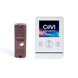 Комплект видеодомофона CoVi Security HD-02M-W и вызывной панели CoVI Security V-42