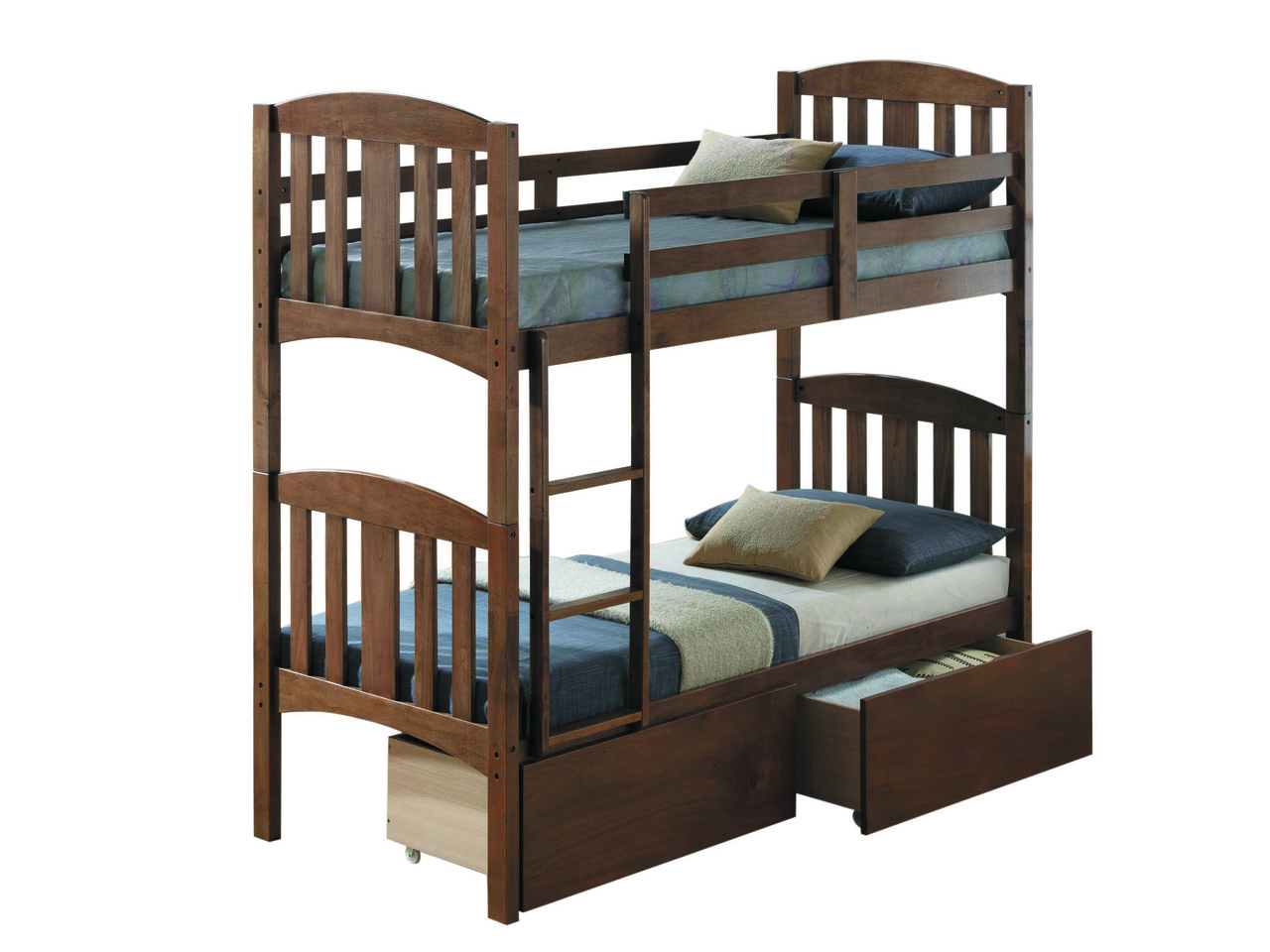 Кровать Мальвина двухъярусная цвет Рустикаль  (Domini TM)