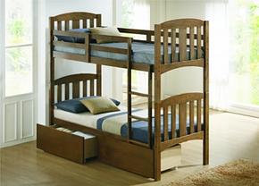 Кровать Мальвина двухъярусная цвет Рустикаль  (Domini TM), фото 3