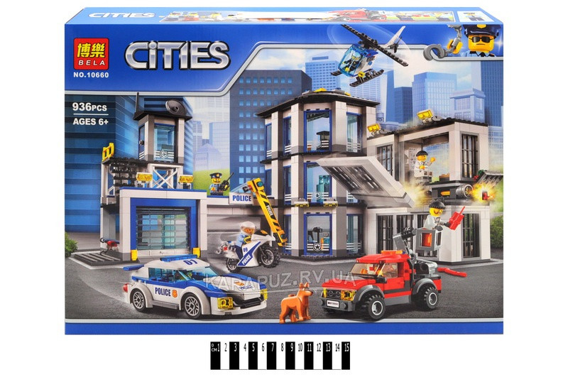 """Конструктор Bela City  10660 """"Полицейский участок"""" (аналог Lego City 60141), 936 дет"""