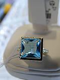 Кольцо серебряное с золотой вставкой и куб.цирконием, фото 4