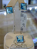 Кольцо серебряное с золотой вставкой и куб.цирконием, фото 5