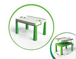 Столик дитячий з аерохоккеєм 04580   81,5 * 56 * 48 см   Зеленого кольору