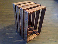 Ящик деревянный стандартный вскрыт морилкой