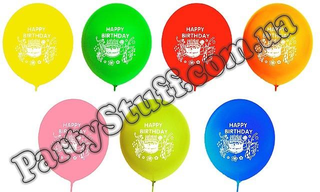 "шарики с надписью ""Happy Birthday"""
