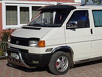 Козырек на лобовое стекло (черный глянец, 5мм) Volkswagen T4 Caravelle/Multivan