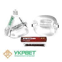 Инфракрасная лампа для обогрева свиней - переходник с Е27 на R7S 118мм, 175W (брудер)