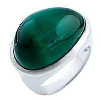 Серебряное кольцо ShineSilver с кошачим глазом (0898391) 17 размер