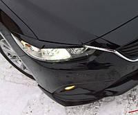 Накладки (клыки) на передний бампер для Mazda 6 с 2012-