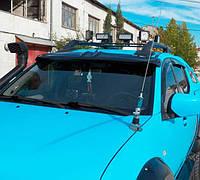 Дефлектор лобового стекла для Mitsubishi L200 с 2008- (козырек) Lasscar 1LS 030 920-181
