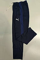 Остались размеры: 48,50. Мужские спортивные штаны Puma (Пума), Трикотаж-пике (лакост) - синие