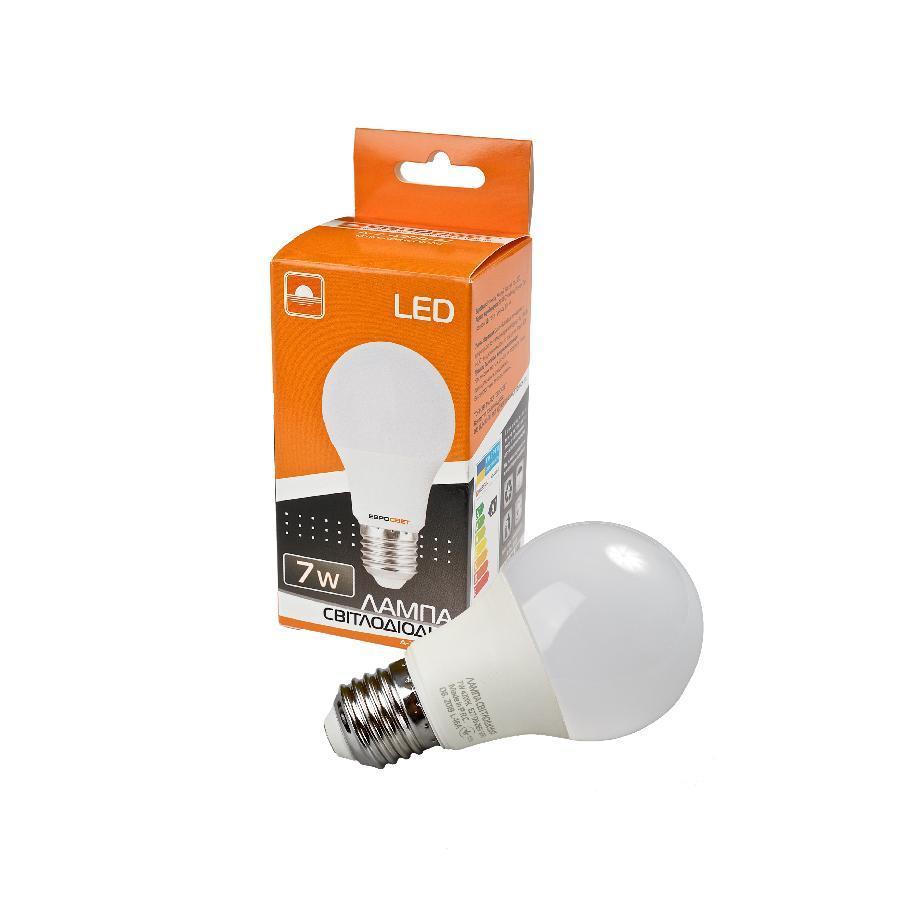 Лампа светодиодная ЕВРОСВЕТ 7Вт 4200К A-7-4200-27 Е27