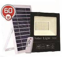 LED светильник 60W с солнечной панелью 20W, аккумулятор 16000mAh с пультом ДУ, фото 1