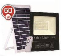 LED светильник 60Вт с солнечной панелью 20Вт, аккумулятор 16000мAч, пульт ДУ, фото 1