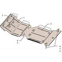 Защита картера двигателя Kolchuga для Jeep Grand Cherokee Liberty 2001-2007 (1.0175.00)