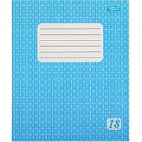 Тетрадь 18 листов клетка эконом класса голубая обложка