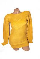 Свитер женский жёлтый, фото 1