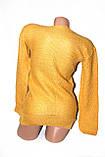 Светр жіночий жовтий, фото 3