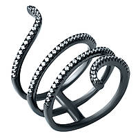 Видеообзор Серебряное женское кольцо с фианитами 18 размер
