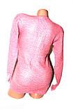 Светр жіночий рожевий, фото 2