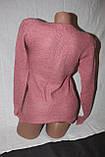 Светр жіночий рожевий, фото 3