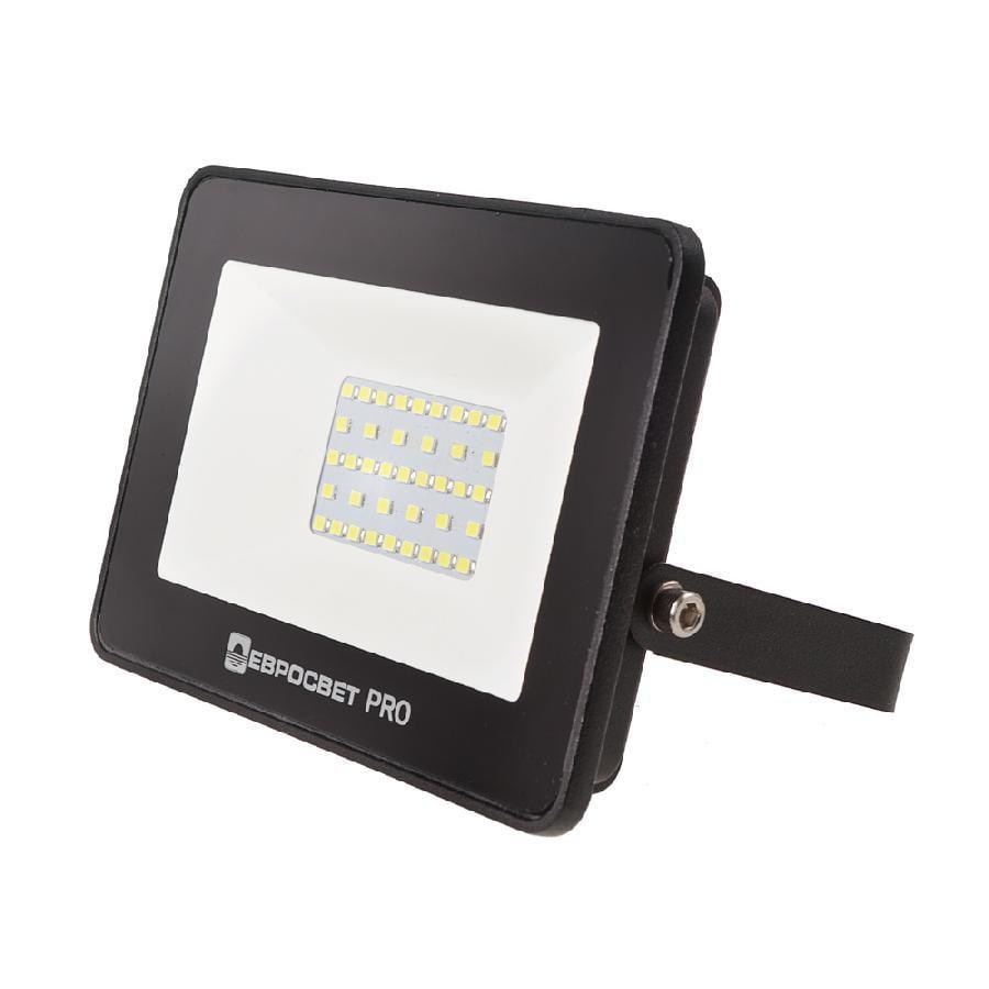 Прожектор світлодіодний ЕВРОСВЕТ 30Вт 6400K EV-30-504 PRO 2700Лм