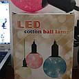 Новогодняя LED лампа led cotton ball lamp, фото 5