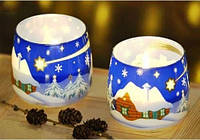 Свечи в стакане Snow ball Снежок ароматизированные декоративные