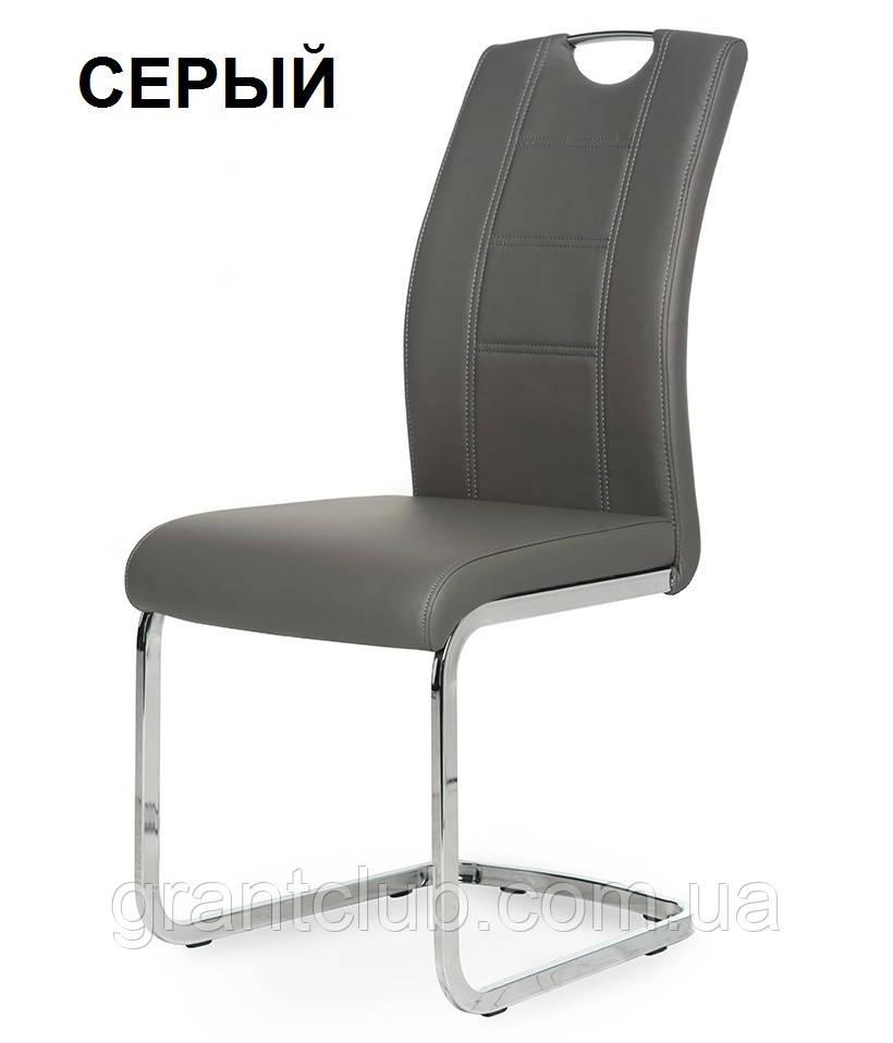Мягкий стул S-110 серый кожзам Vetro Mebel