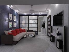 Дизайн двухкомнатной квартиры (90 м²)