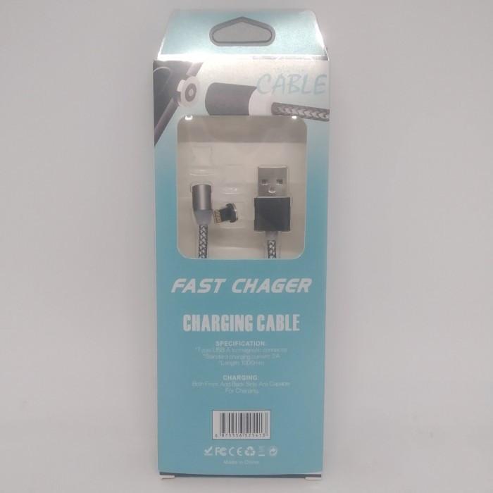 Магнитный кабель M3 для Iphone Magnetic USB Cable 1 метр СЕРЫЙ в обмотке