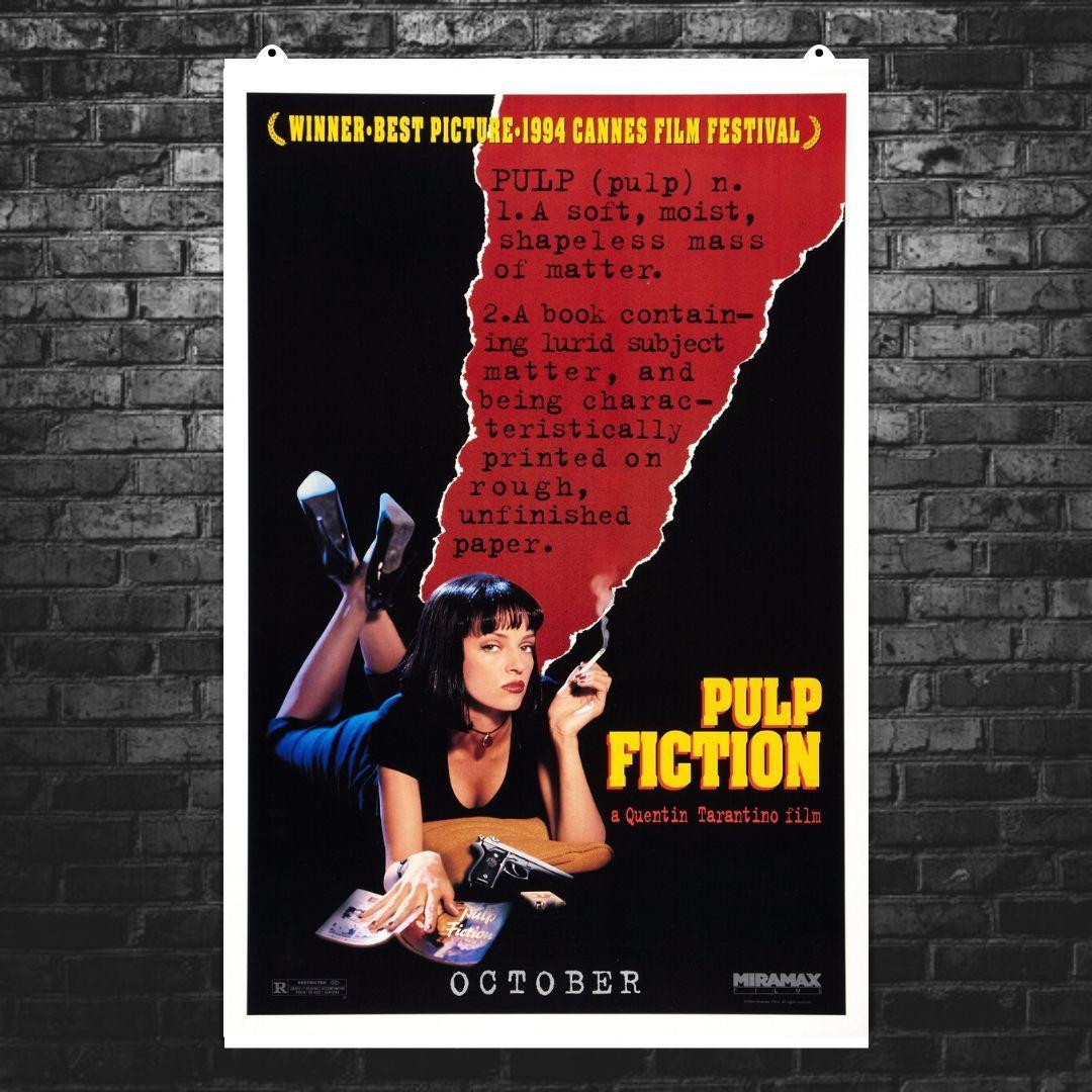 """Постер """"Криминальное чтиво"""". Pulp Fiction. Размер 60x40см (A2). Глянцевая бумага"""