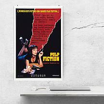 """Постер """"Криминальное чтиво"""". Pulp Fiction. Размер 60x40см (A2). Глянцевая бумага, фото 3"""