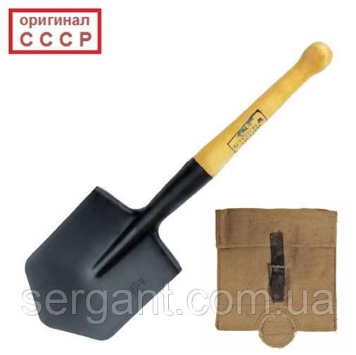 Солдатская саперная лопата с чехлом (малая пехотная лопата МПЛ-50).