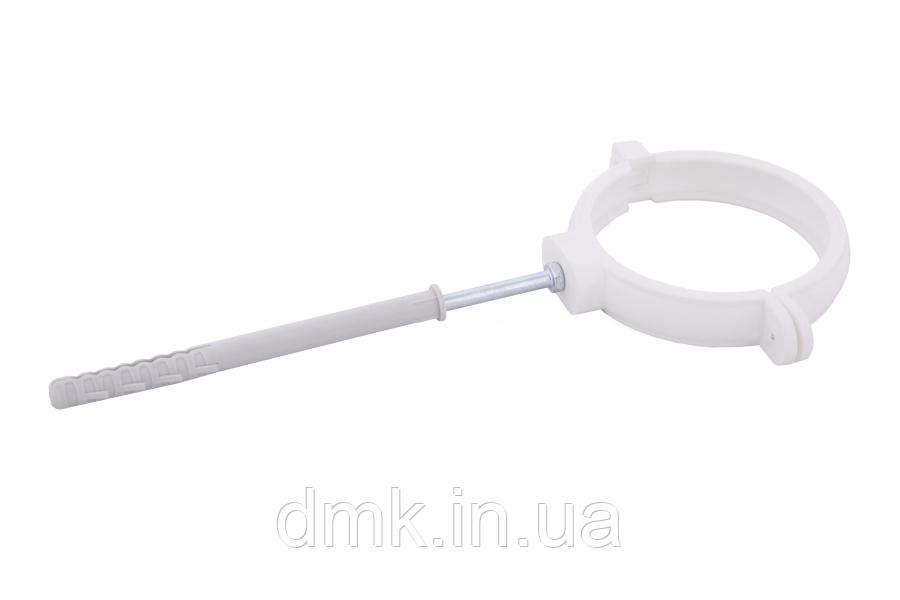 Держак труби Profil пласт. L100 90 білий