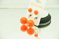 Сережки длинные оранжевые пусеты оптом. Модная бижутерия РРР 2015. 152