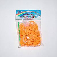 Резиночки для плетения Rainbow Loom 300 шт. (светло-оранжевые)