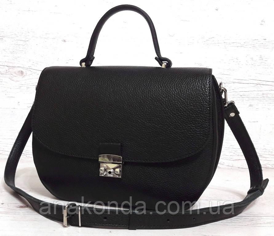 581 Натуральная кожа Сумка женская черная Кожаная сумка черная через плечо женская сумка натуральная кожа