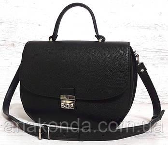581 Натуральная кожа Сумка женская черная Кожаная сумка черная кожаная женская сумка кожаная черная