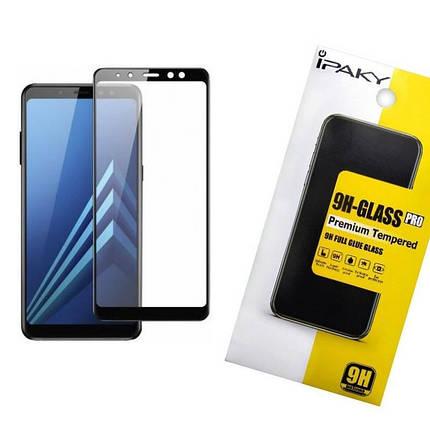 Защитное стекло iPaky для Samsung A730 (A8 Plus 2018) Черный (iP3745), фото 2