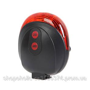 Велосипедный фонарь (задний стоп) с лазерной дорожкой DW-681 Red