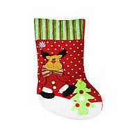"""Рождественский носок для подарков """"Олень"""" С30203"""