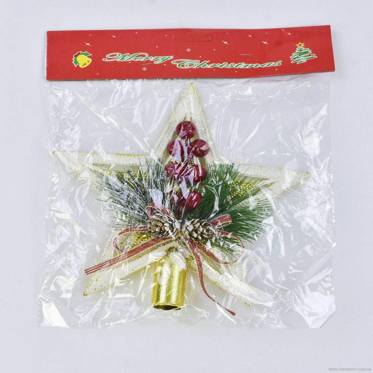 """Верхушка на ёлку """"Рождество"""" C30537"""