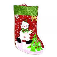 "Новогодний носок для подарков ""Снеговик"" С30439"