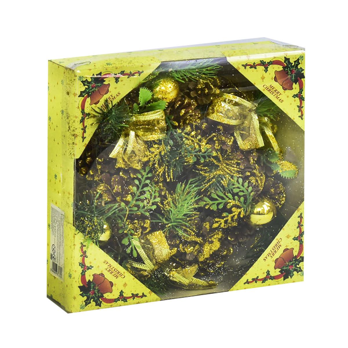 Новогодний веночек (золотистый) С31039