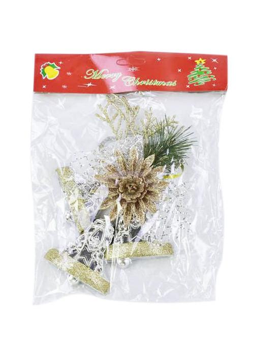 Новогоднее украшение подвеска (серебристый) С30999