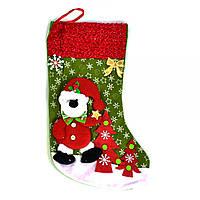 """Новогодний носок для подарков """"Мишка"""" С30439"""