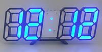 Часы настольные SL-6609 с синей подсветкой, фото 1